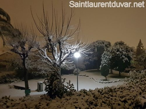 Neige à Saint Laurent du var